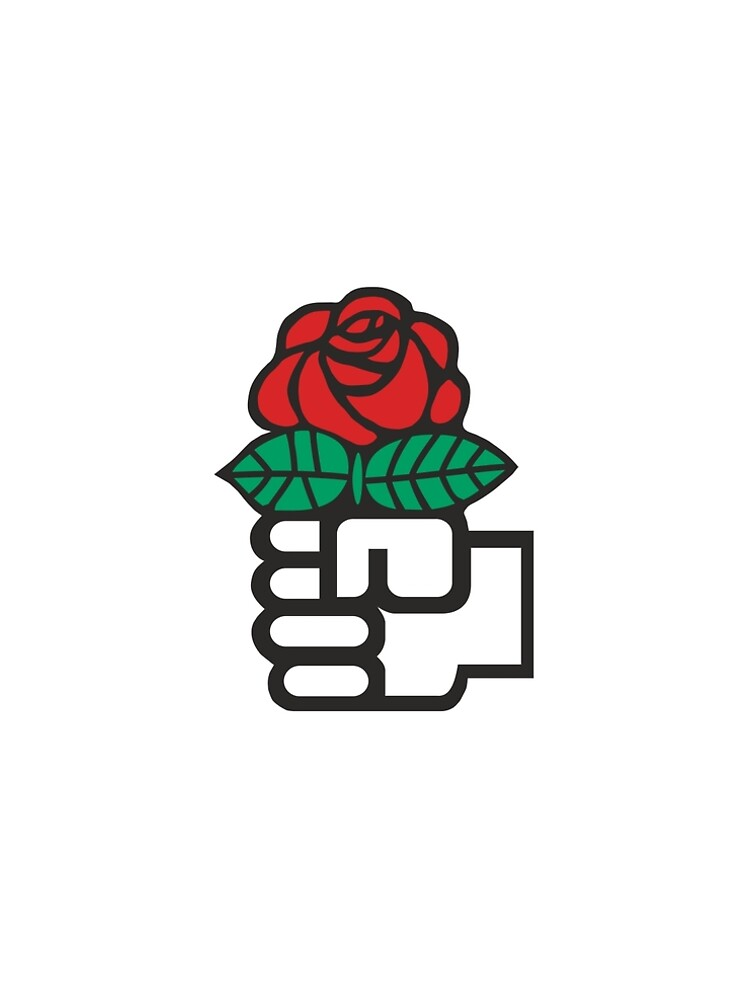 Socialism The Fist And Red Rose Symbol A Line Dress By Martstore