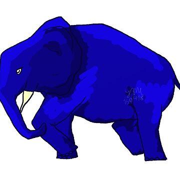 Blue Elephant  by hillyhale