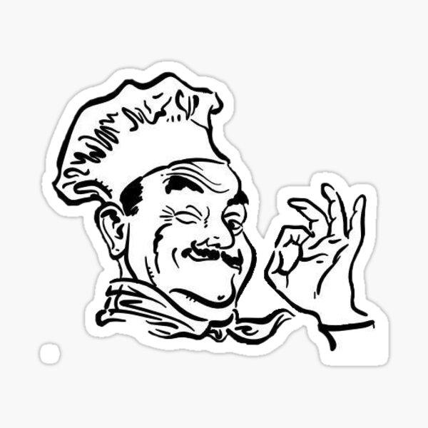 The Pizza Man Sticker