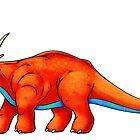 Styracosaurus by Rowena Aitken