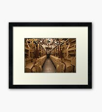 submarine diesels in the engine room  Framed Print