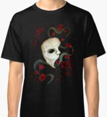 Phantom of the Opera Mask and Roses Classic T-Shirt