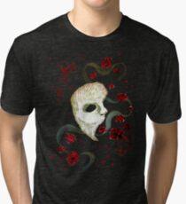 Phantom of the Opera Mask and Roses Tri-blend T-Shirt