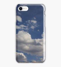 Clouds in blue sky iPhone Case/Skin