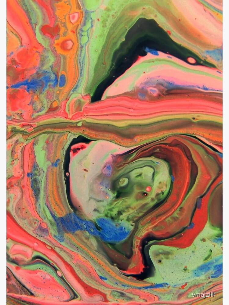 Fluid Nature - Tropical Maze - Abstract Acrylic Art Pour by vmajzlik