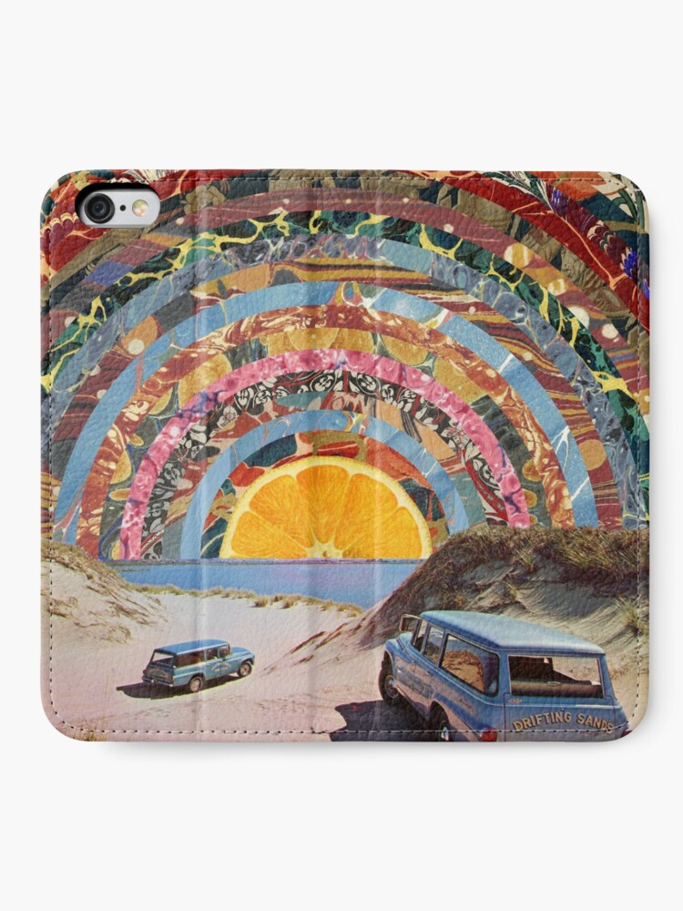 Alternate view of Orange sunset iPhone Wallet