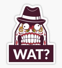 Funny face with hat Sticker