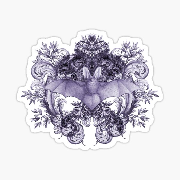 Bats & Swirls Sticker