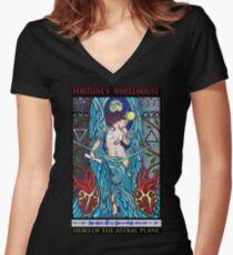 Fortune's Wheelhouse Tabula Mundi Tarot Priestess tee Women's Fitted V-Neck T-Shirt