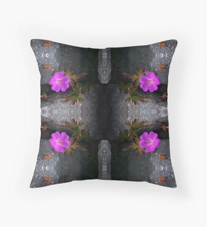 Bloody Cranesbill, Dun Aengus, Inishmore Floor Pillow