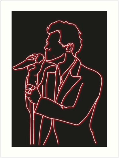 Harry Styles   Neon Art Print by Artsy Lo