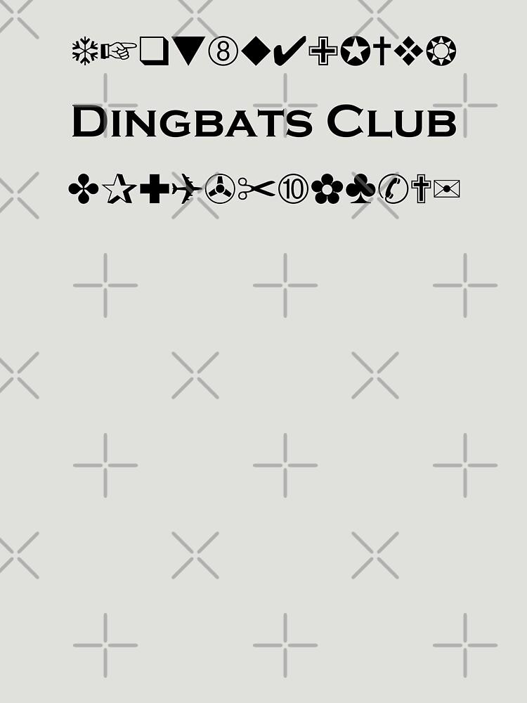 Dingbats Club Symbols For Computer Geeks Monotone Light Unisex T