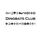 Dingbats Club Symbols for Computer Geeks Monotone Light by TinyStarAmerica