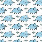 Blue Dinosaur Baby Triceratops  by zoel