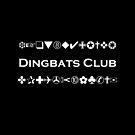 Dingbats Club Symbols for Computer Geeks Monotone Dark by TinyStarAmerica