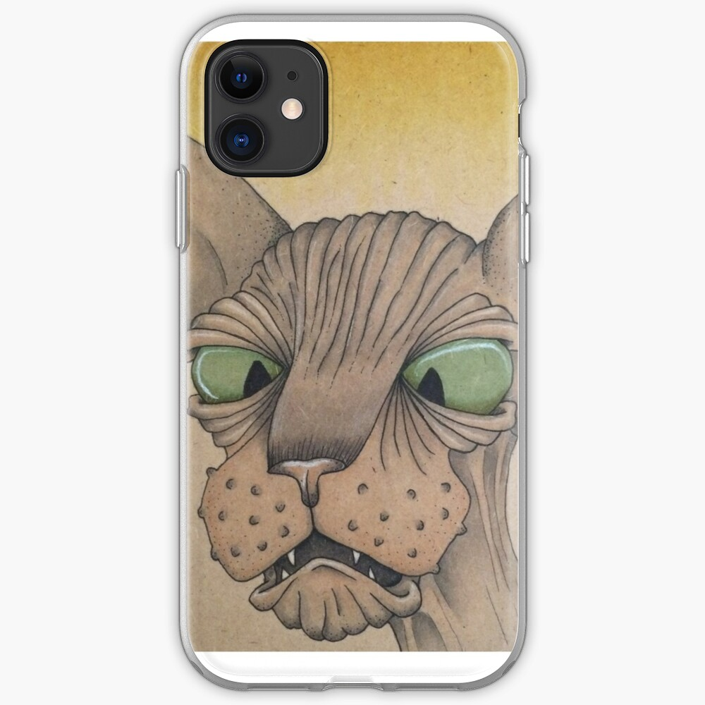 Cross-Eyed Sphynx iPhone Soft Case