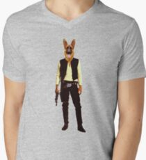 Han Solo Star Wars Dog Men's V-Neck T-Shirt
