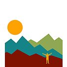 Man and Mountain Range by wmr2