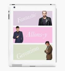 9th-11th doctors with catchphrases  iPad Case/Skin