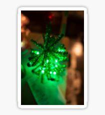 Bright Green Holiday Tree Sticker