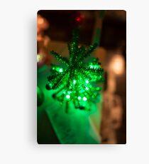 Bright Green Holiday Tree Canvas Print