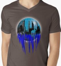 City Globe Mens V-Neck T-Shirt