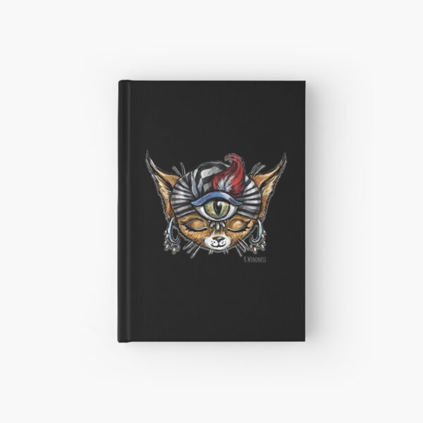 Mysticat, the psychic kitty Hardcover Journal