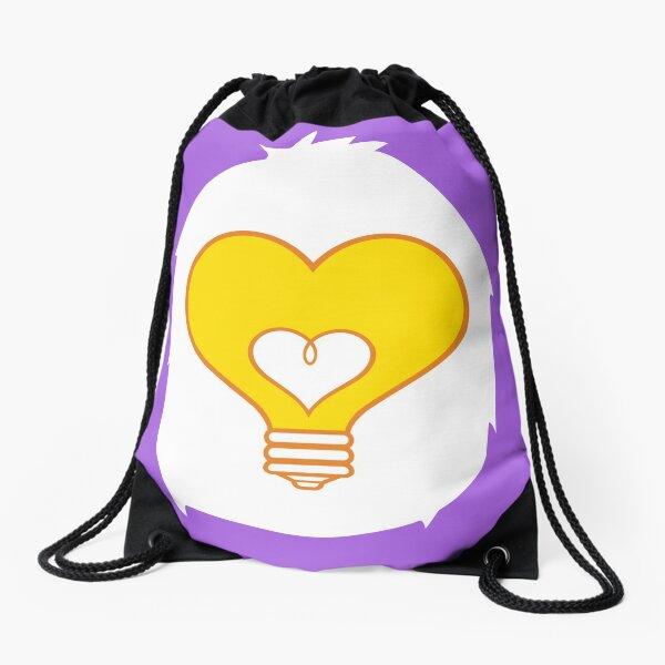 What A Bright (Heart) Idea Drawstring Bag