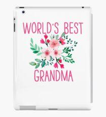 Worlds Best Grandma Flower Shirt Gift For Grandma iPad Case/Skin