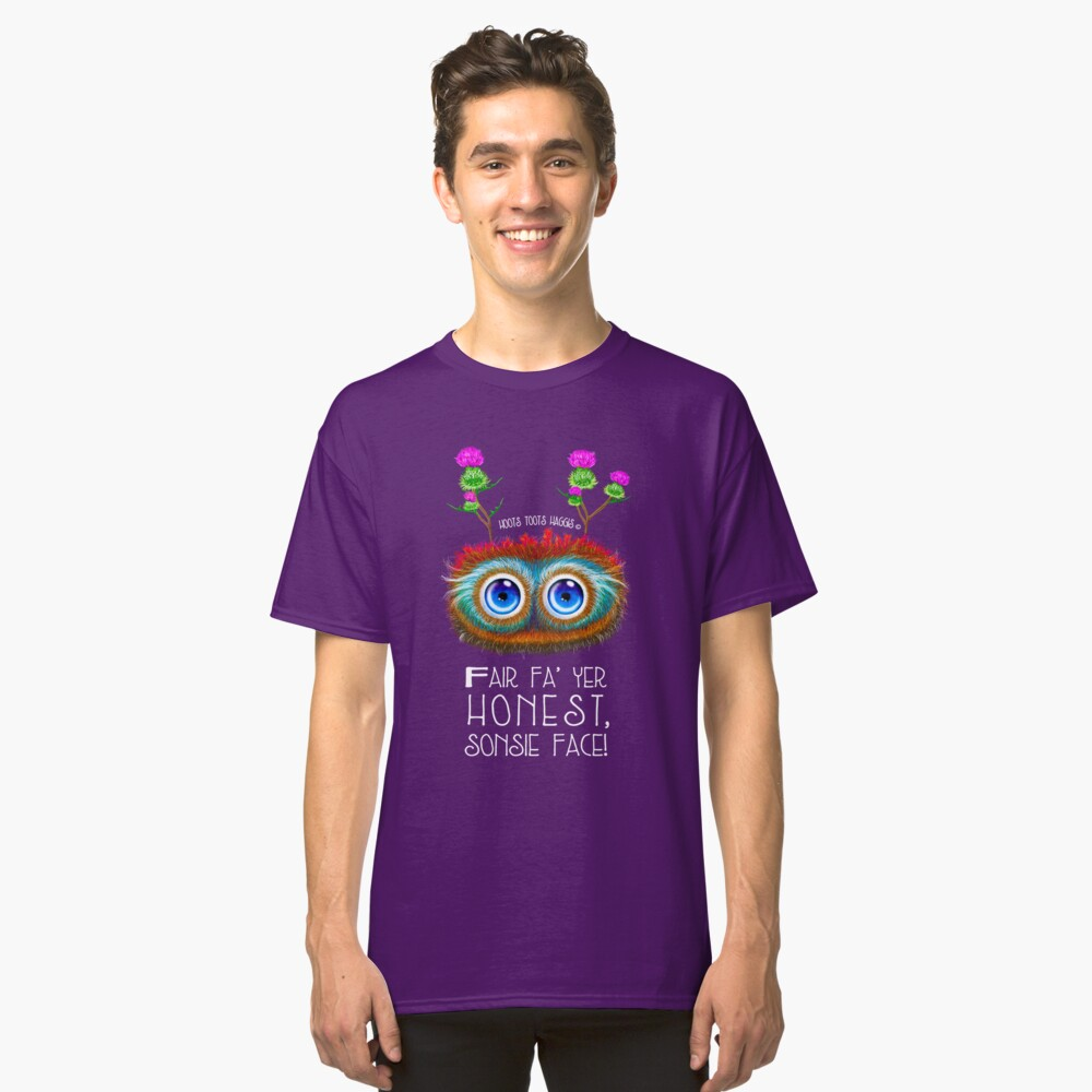 Wee Scottish Haggis, Sonsie Face Classic T-Shirt Front