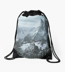 Skyrim winter Drawstring Bag