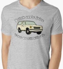 Drink-apple-Juice-Cause-OJ-will-kill-you Men's V-Neck T-Shirt
