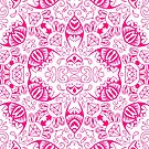 Pink Diamonds and Doodles by Ruth Moratz