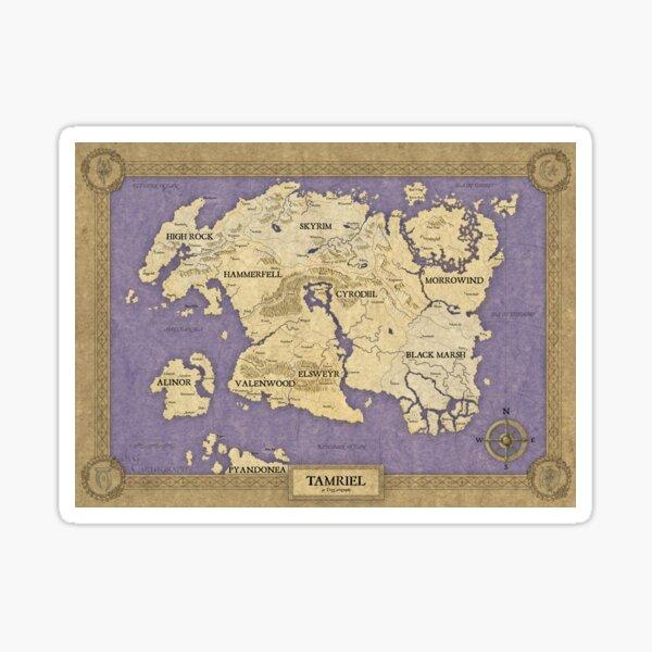 Elder Scrolls map - Tamriel Sticker