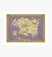 Elder Scrolls map - Tamriel Art Print
