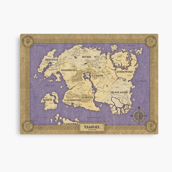 Elder Scrolls map - Tamriel Canvas Print