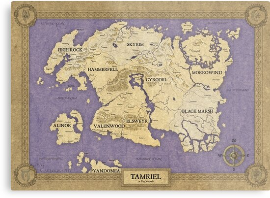 Elder Scrolls map - Tamriel\