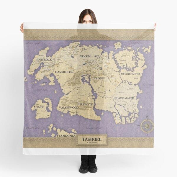 Elder Scrolls map - Tamriel Scarf