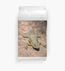 Lizard at Iguazu Falls, Argentina Duvet Cover