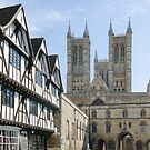 Lincoln Cathedral Approach by JohnYoung