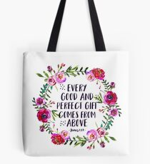 Christian Quote James 1:17 Tote Bag