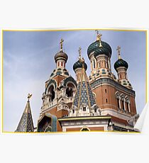ST Nicolas Russian cathedral Poster