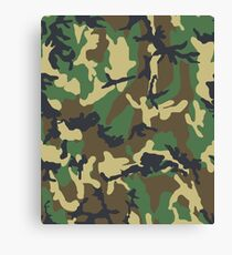 Woodland Camouflage Pattern Canvas Print