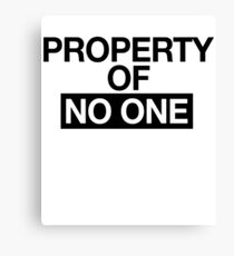 Property Of No One _ Feminist Power Canvas Print