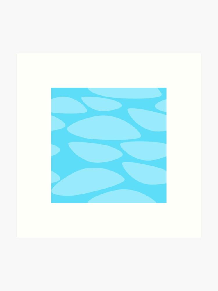 Water - voxel texture by Fluffgar | Art Print