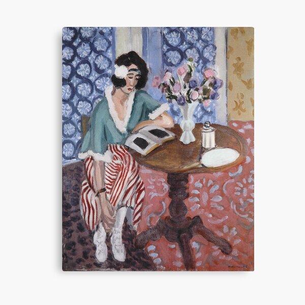 Woman Reading-Henri Matisse Canvas Print