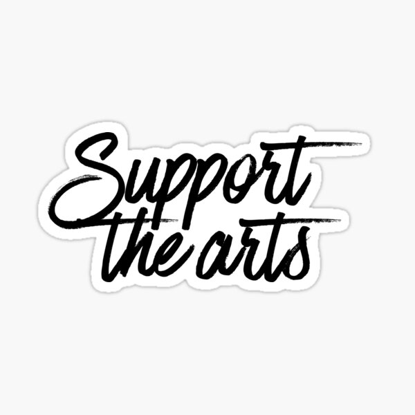 Support The Arts : Hipster Teenager Sticker