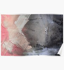 Starting Point,Pink Blue Abstract Giclee,Pink grey Giclee Print,Abstract Painting,pink white Giclee,pink grey print,pink wall art Poster
