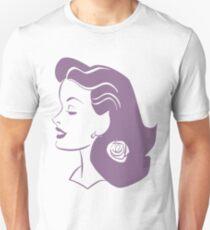 Retro Glamour girl illustration Unisex T-Shirt