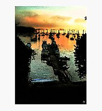 Firey Dawn on Mallets Bay Photographic Print